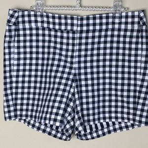 NWT J.Crew Blue and White Gingham Shorts Size: 6